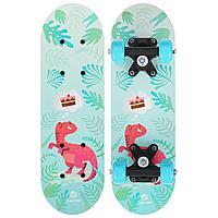 Скейтборд ONLITOP «Динозавр» детский 44 × 14 см, колёса PVC 50 мм, пластиковая рама