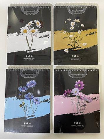 Скетчбук А4 Цветы, фото 2