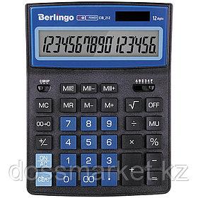 """Калькулятор настольный Berlingo """"City Style"""", 12 разрядов, 205*155*28 мм, черный/синий"""