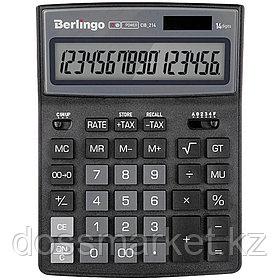 """Калькулятор настольный Berlingo """"City Style"""", 14 разрядов, 205*155*28 мм, черный/серый"""
