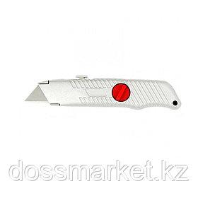 Нож выдвижной Matrix, трапециевидное лезвие, металлический корпус, 19 мм