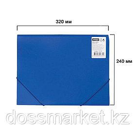 Папка OfficeSpace, А4 формат, 500 мкм, на резинке, синяя