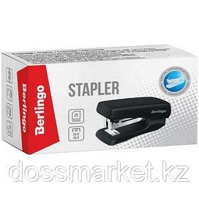 Степлер сшивает до 20 листов, Berlingo Mini № 24/6, 26/6, черный, пластик