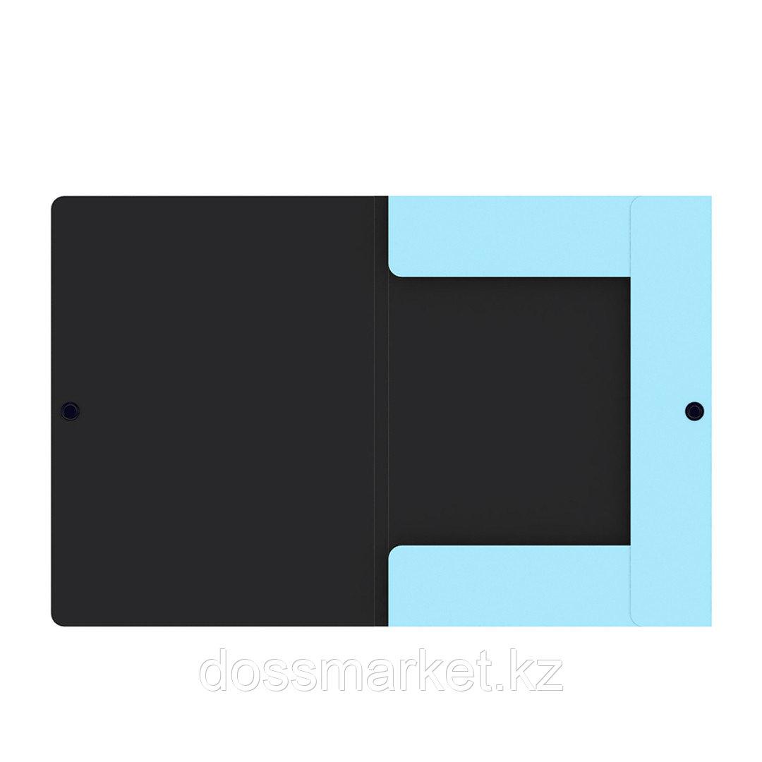 """Папка-конверт с кнопкой Berlingo """"Instinct"""", А4, 600 мкм, аквамарин"""