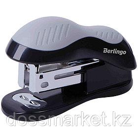 """Степлер-мини сшивает до 15 листов, Berlingo """"Office Soft"""" №24/6, 26/6, пластик, черный"""