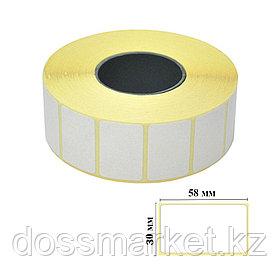 Термоэтикетки для термопринтера и весов, 58 мм*30 мм, втулка 40 мм, 800 этикеток в рулоне