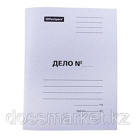 """Папка-скоросшиватель OfficeSpace """"Дело"""", картон мелованный, А4 формат, 300 гр, белая"""