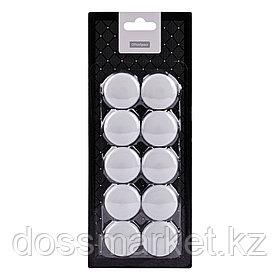 Магниты OfficeSpace диаметр 3 см, 10 штук в упаковке, белые