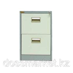 Файл-кабинет, 2-ящика, 462*620*722 мм, серый, для папок А4+ формата