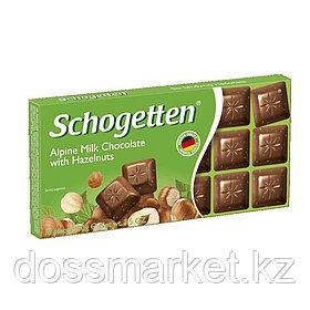 "Шоколад молочный Schogetten ""Фундук"",100 гр"