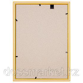 Пластиковая рамка OfficeSpace №1, 21*30 см, желтая