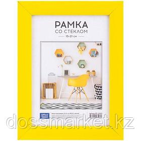 Пластиковая рамка OfficeSpace №10/1, 15*21 см, желтая