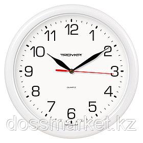 Часы круглые Troyka, d=24,5 см, белые, пластиковые