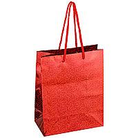 Пакет подарочный ArtSpace, размер 18*23*10 см, красный, голографическая бумага