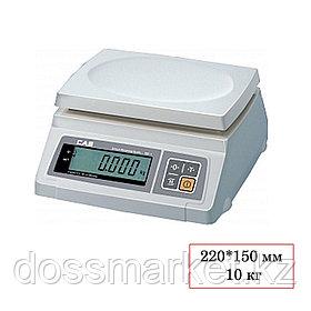 Весы CAS SW-10 SD, электронные, максимальная нагрузка 10 кг