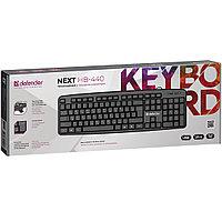 Клавиатура проводная Defender Next HB-440, USB, ENG/RUS, черная