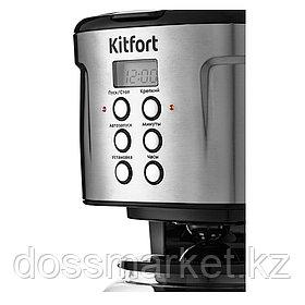 Кофеварка Kitfort КТ-731, капельная, 1,6 л, черный/хром