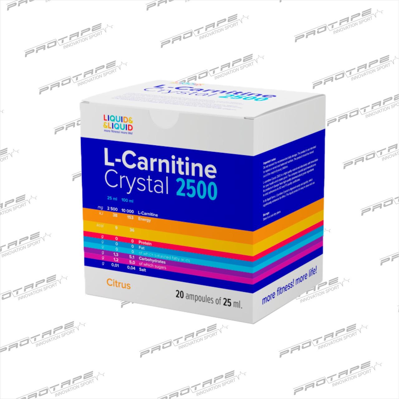 L-карнитин Liquid&Liquid L-CARNITINE 2500 20x25мл.