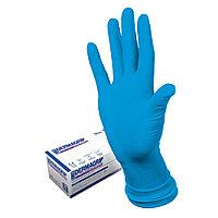 """Перчатки латексные Dermagrip """"High Risk"""", неопудренные, размер M, синий, 50 шт/упак"""