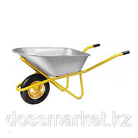 """Тачка садовая """"Эксперт"""", одно колесо, усиленная, объем 100 л, грузоподъемность 200 кг"""