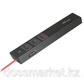 Презентер Trust Sqube, лазерный, беспроводной, USB 2.0, AAA, черный