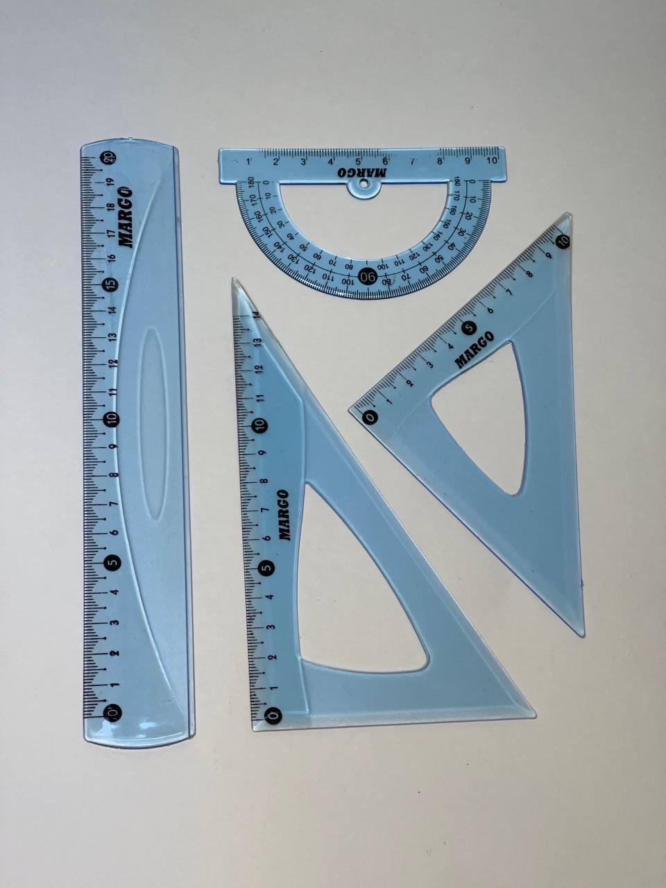 Набор линеек геометрический MARGO 20см