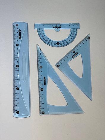 Набор линеек геометрический MARGO 20см, фото 2