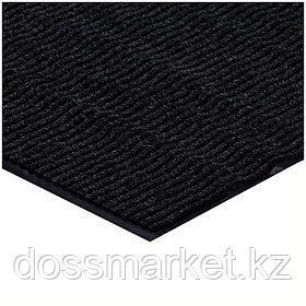 Коврик входной Vortex, влаговпитывающий, ребристый, размер 900*1200 мм, черный