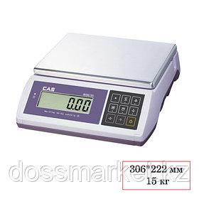 Весы CAS ED-15, электронные, максимальная нагрузка 6-15 кг