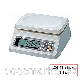 Весы CAS SW-10 DD, электронные, максимальная нагрузка 10 кг