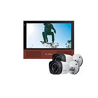 Slinex SL-10M цвет черный + серебро. + 2 видеокамеры EZCVI HAC-B1A02P