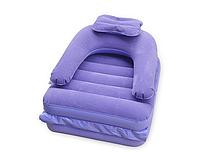 Надувной матрац-односпалка фиолетовый