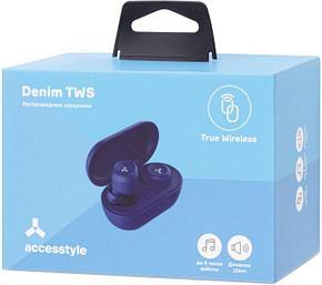 Беспроводные наушники Accesstyle Denim TWS Blue, фото 2