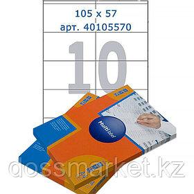 Лейбл  на 10 этикетк., А4, 105*57 мм, 100лист., Multilabel