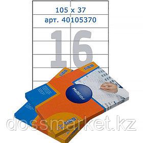 Лейбл  на 16 этикетк., А4, 105*37 мм, 100лист., Multilabel