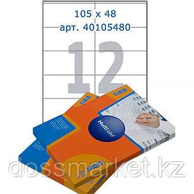 Лейбл  на 12 этикетк., А4, 105*38 мм, 100лист., Multilabel
