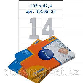 Лейбл  на 14 этикетк., А4, 105*42.4 мм, 100лист., Multilabel