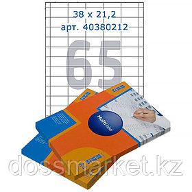 Лейбл  на 65 этикетк., А4, 38*21,2 мм, 100лист., Multilabel