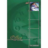 Блокнот, А4, 60л.,клетка, на гребне жесткая подложка Office Line зеленый