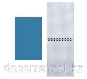 Блокнот, А5, 60л.,клетка, на гребне, синий