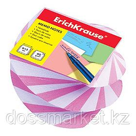 Блок бумаги для записи витой 5*6*4, розовый, ERICH KRAUSE