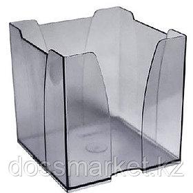 Пластбокс для блока  бумаги для записи 9*9*9,  тонированный серый (снят с производства)