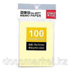 Постики 76х101 мм, 100лист, жёлтый. DELI