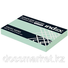 Постики  75х51 мм, 100лист, зелёный. INDEX