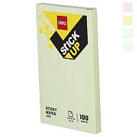 Постики 76х126 мм, 100лист, ассорти, пастельные цвета, плёнка. DELI