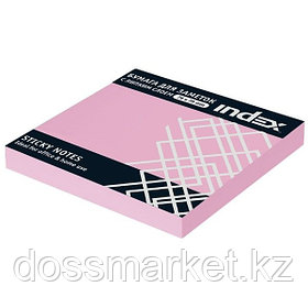 Постики  76х75 мм, 100лист, неоново-розовый.INDEX