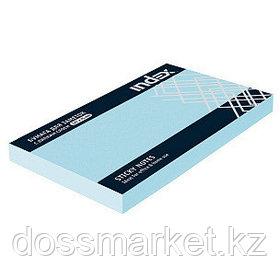Постики  75х127 мм, 100лист, голубой. INDEX