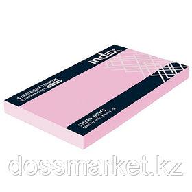 Постики  75х127 мм, 100лист, розовый. INDEX