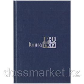 Книга учета, 120л, А4, листы БЕЛЫЕ,твердый переплет, клетка, обложка СИНЯЯ, 200*290мм, БланкИздат