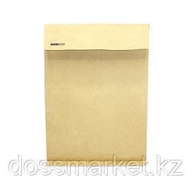 Конверт В4, 250*353мм,,крафт,без окна, с силик. лентой, 130гр,боковое и донное расширение,цена за шт